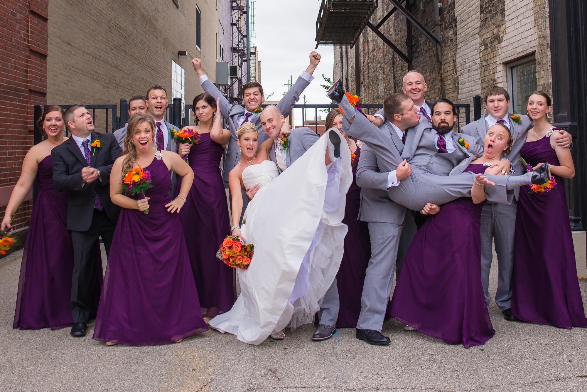 Michigan wedding photographer michigan wedding senior fun and silly wedding portraits in downtown bay city ombrellifo Gallery