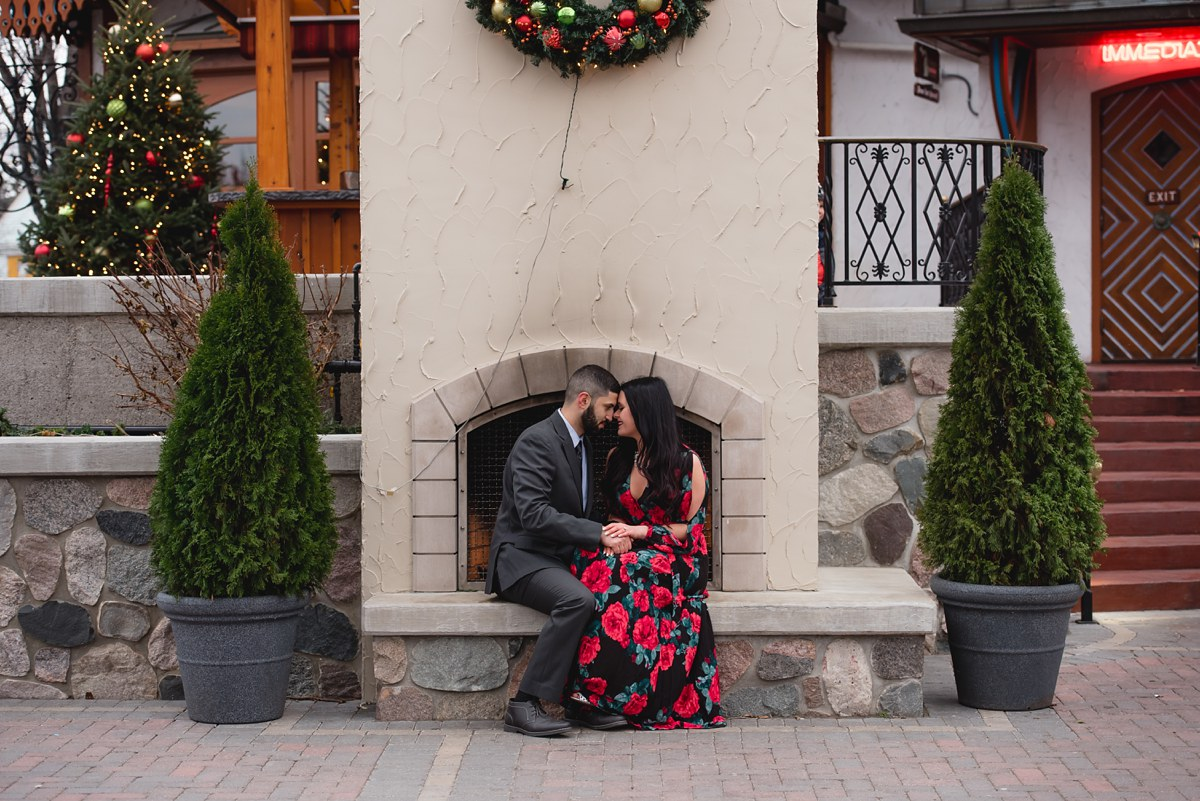 Chelsea and Andrew Frankenmuth Michigan Winter Engagement Session