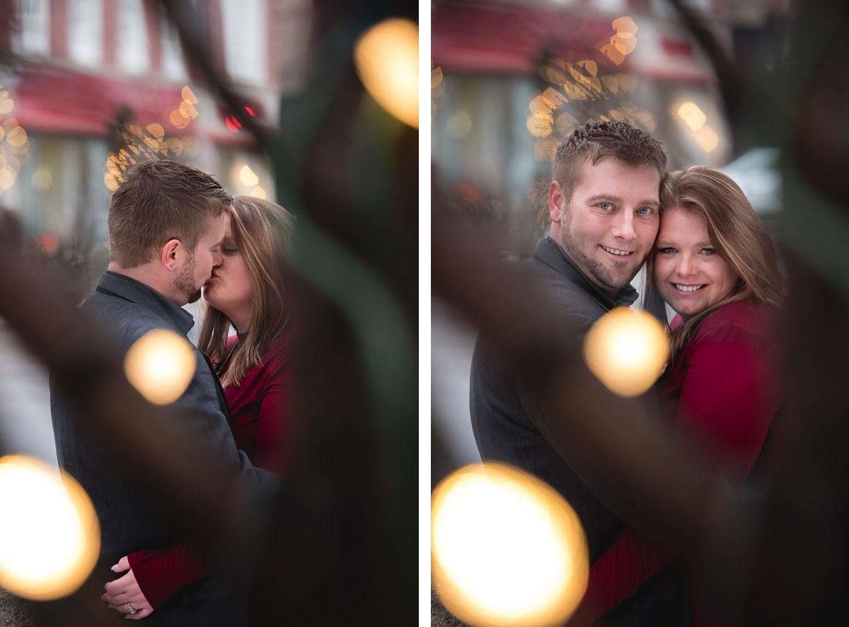 Ashley + Jarred Bay City Winter Engagement