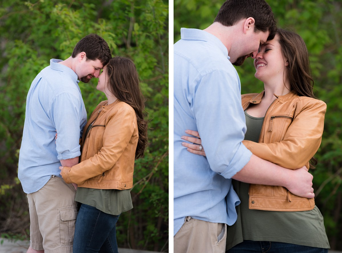 Kandice and Nate Bay City Spring Engagement session
