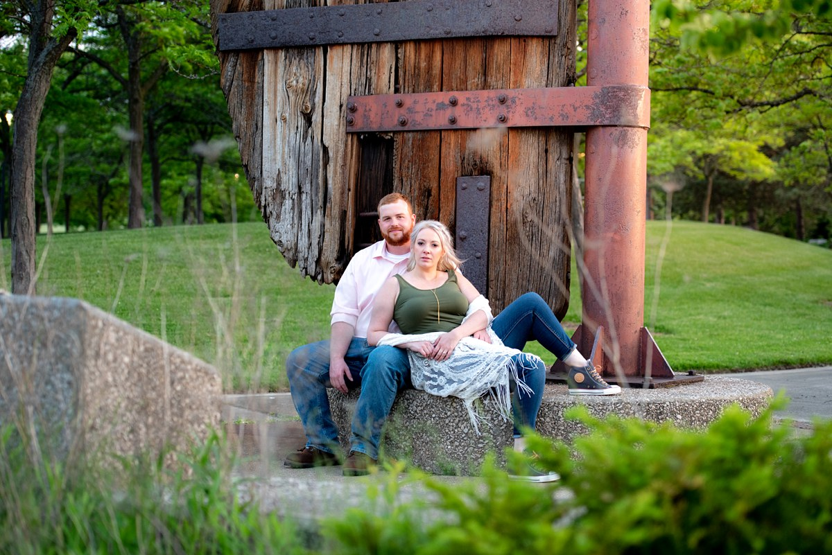 Kayla and Craig Bay City Michigan Engagement session Tobico Marsh Veterans Park