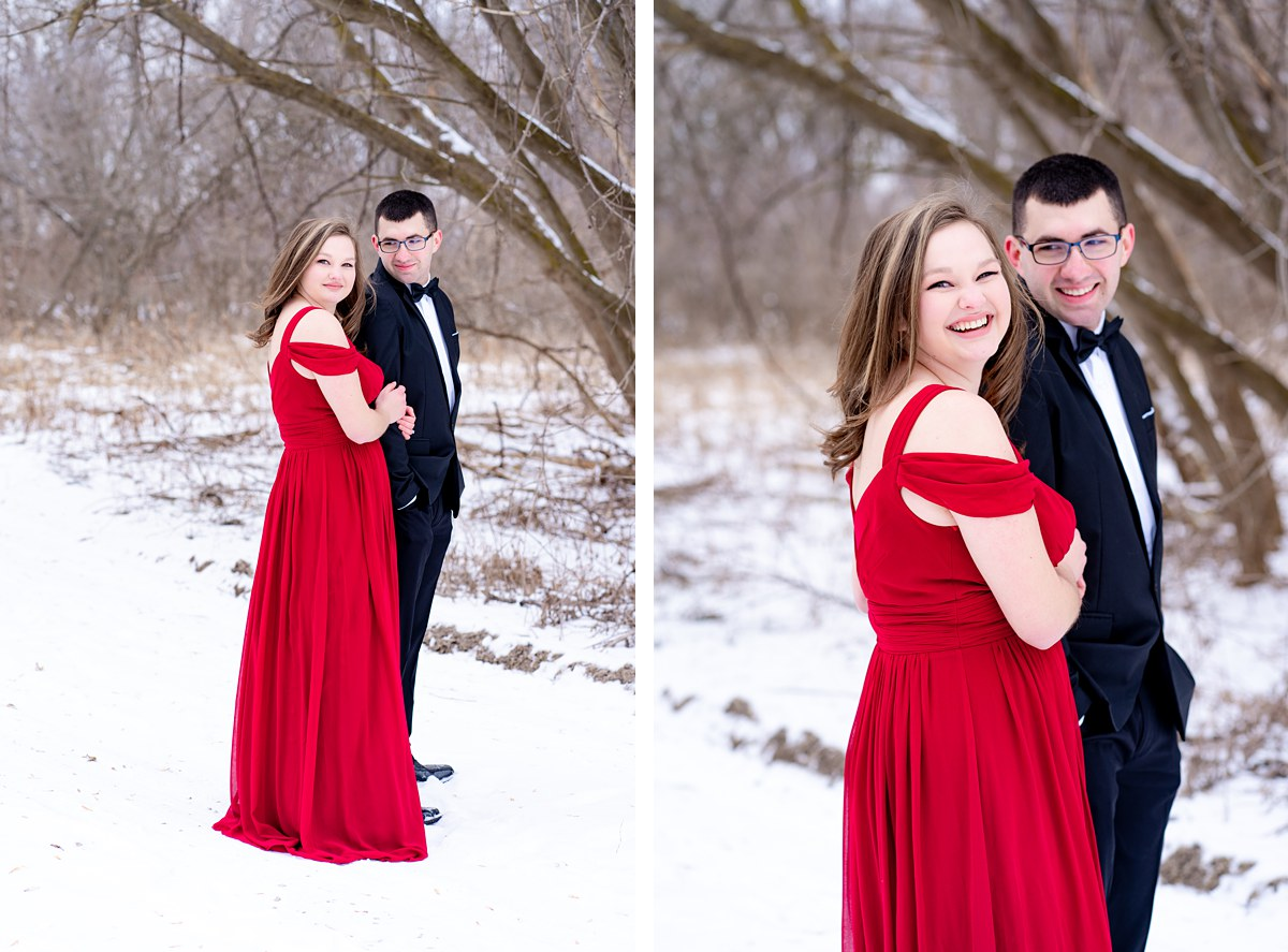 Jenna and Nathan Winter Engagement blacksheepchic photography Bay City Michigan
