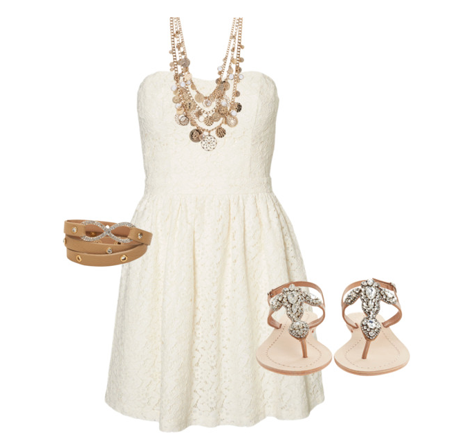 senior style what to wear neutral lace for summer