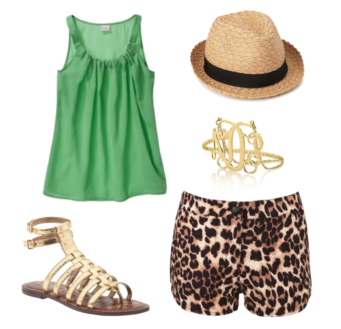 senior style what to wear bold color with leopard