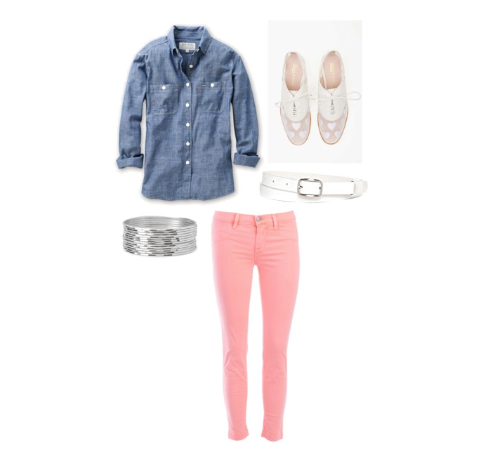 senior style what to wear chambray pastel