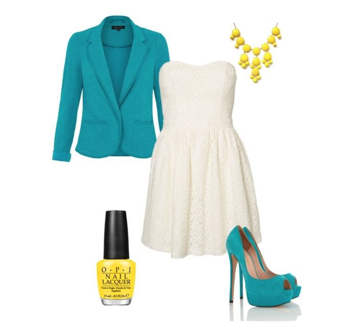 senior style what to wear turquoise and lace