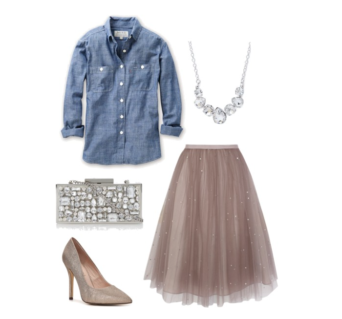 senior style what to wear tulle and chambrey