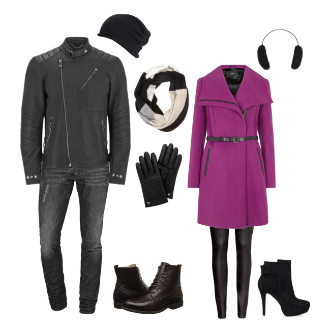 couples style :: what to wear :: modern biker