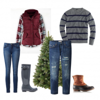 couples style :: what to wear :: tree pickin'