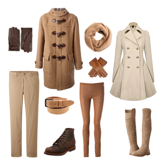 couples style :: what to wear :: winter beige