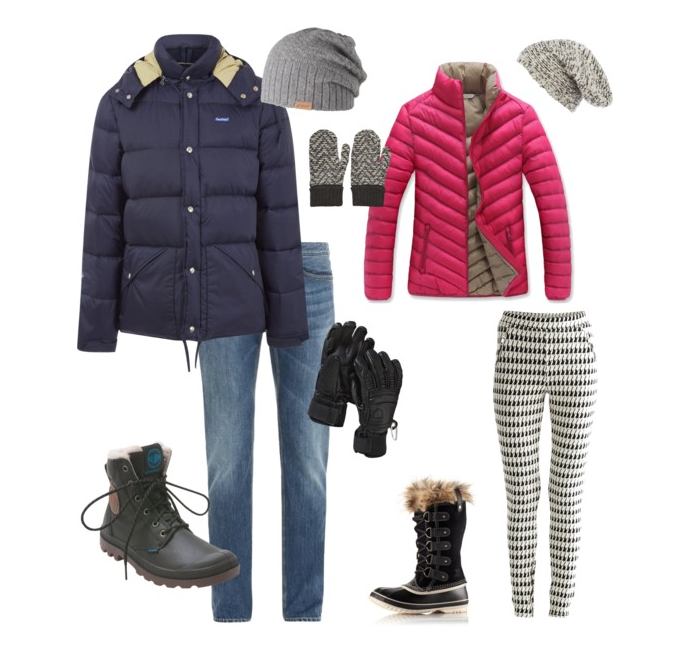 couples style :: what to wear :: snowball fight