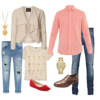couples style :: what to wear :: palm trees and pineapples