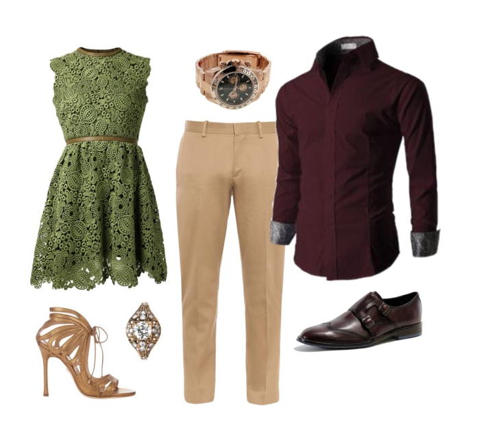 couples style :: what to wear :: spring greens