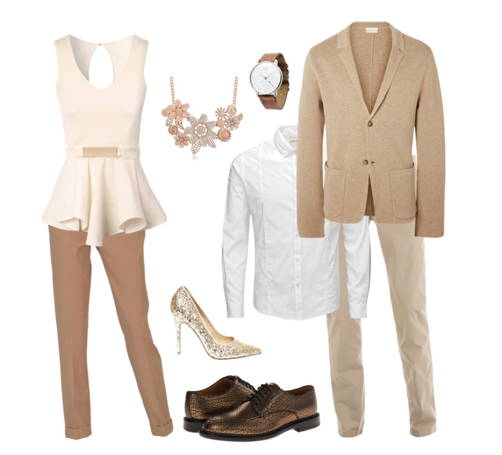 couples style :: what to wear :: spring neutrals