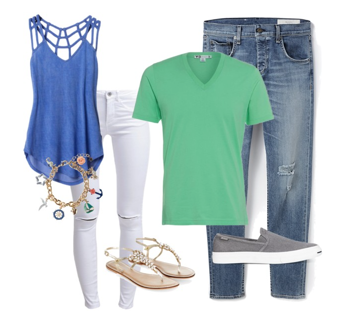 couples style :: what to wear :: summer docks