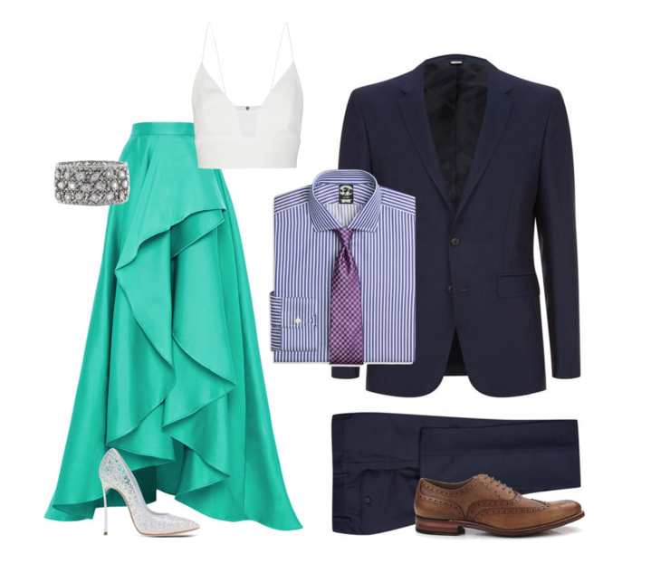 couples style : what to wear : august weddings